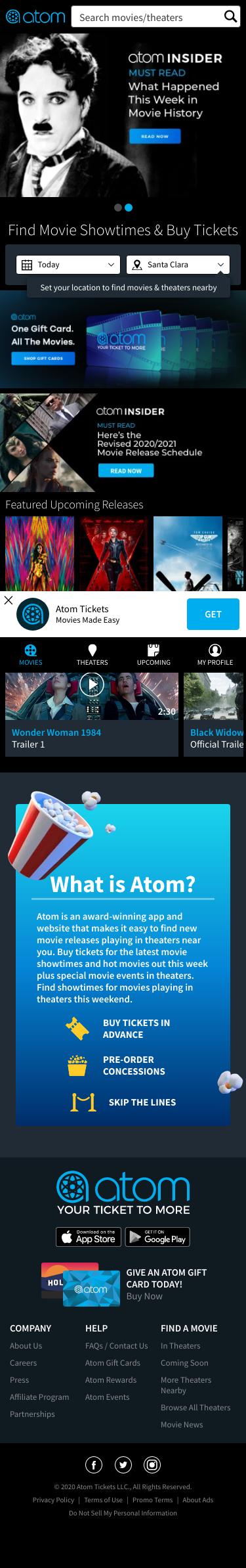 Atom Tickets Coupon