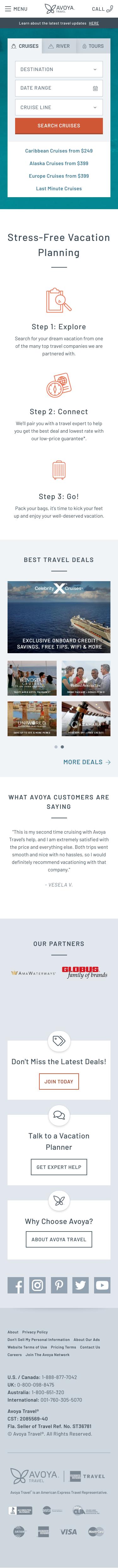 Avoya Travel Coupon