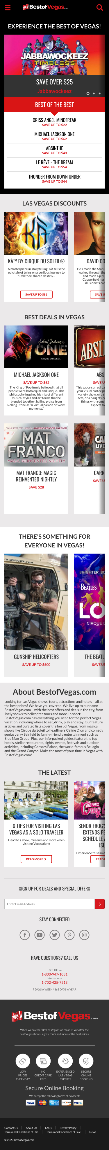 Best of Vegas Coupon