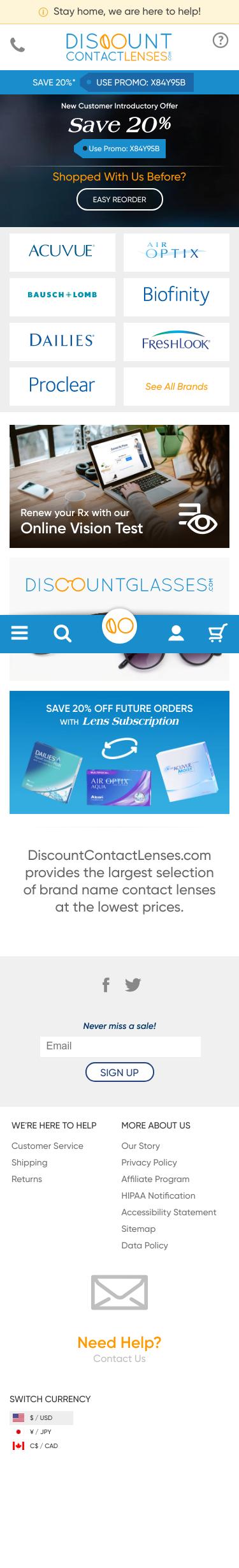 DiscountContactLenses.com Coupon