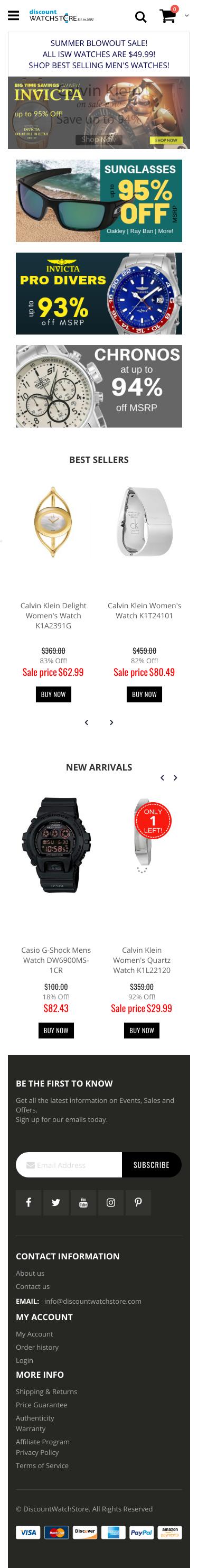 DiscountWatchStore.com Coupon