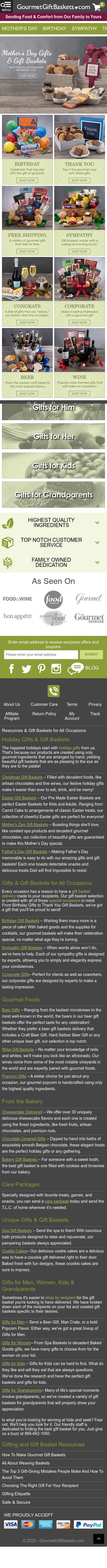 Gourmet Gift Baskets Coupon