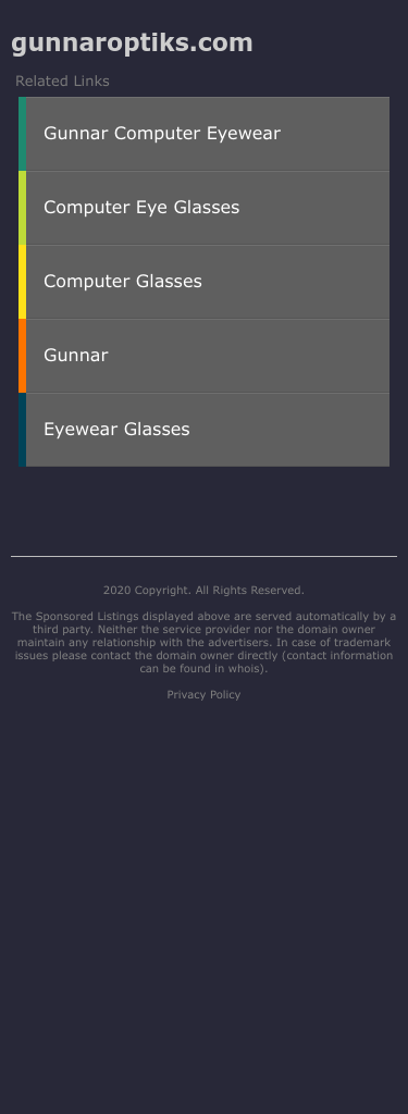 GUNNAR Optiks Coupon