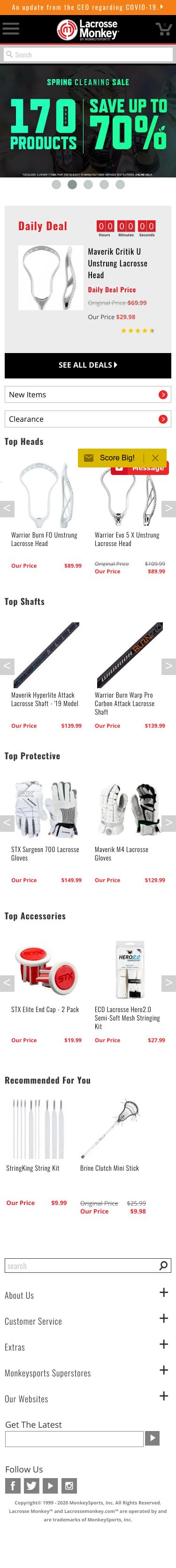LacrosseMonkey.com Coupon