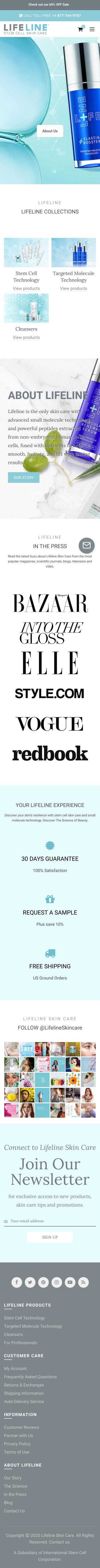 Lifeline Skin Care Coupon
