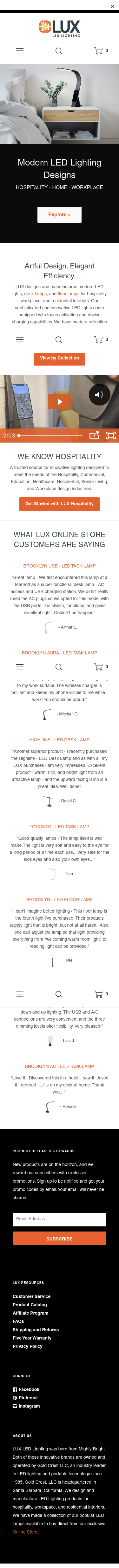 LUX LED Lighting Coupon