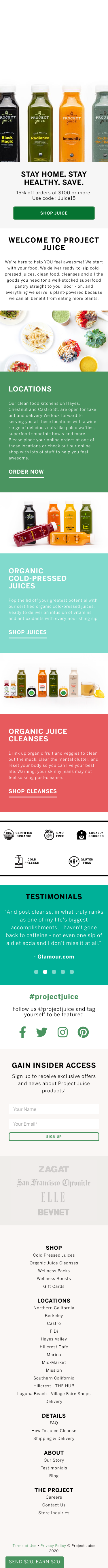 Project Juice Coupon