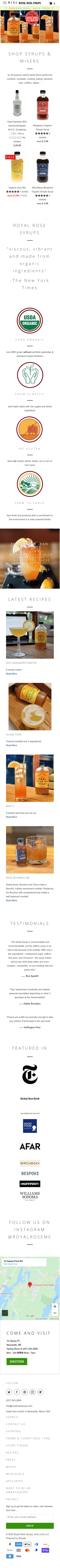 Royal Rose Syrups Coupon