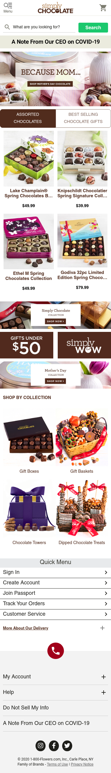 Simply Chocolate Coupon