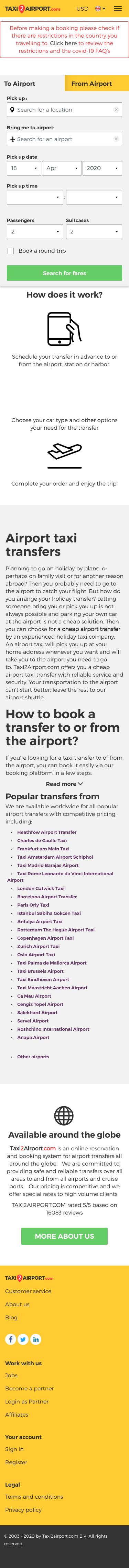 Taxi2Airport.com Coupon