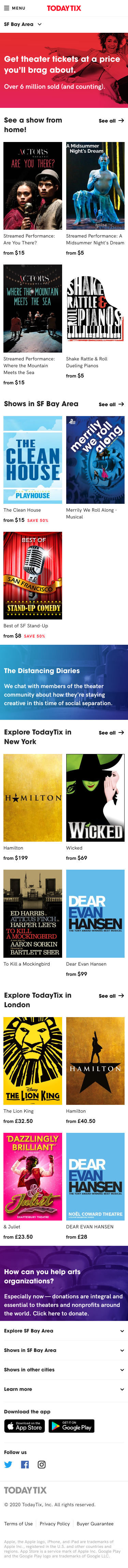 todaytix Coupon