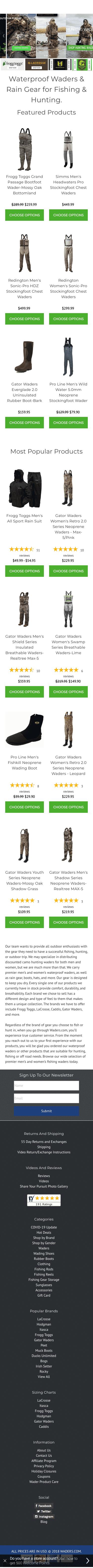 Waders.com Coupon