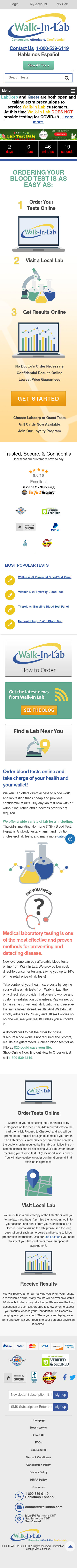 Walk-In Lab Coupon