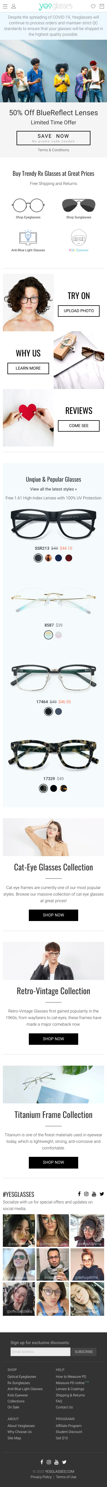 Yesglasses Coupon