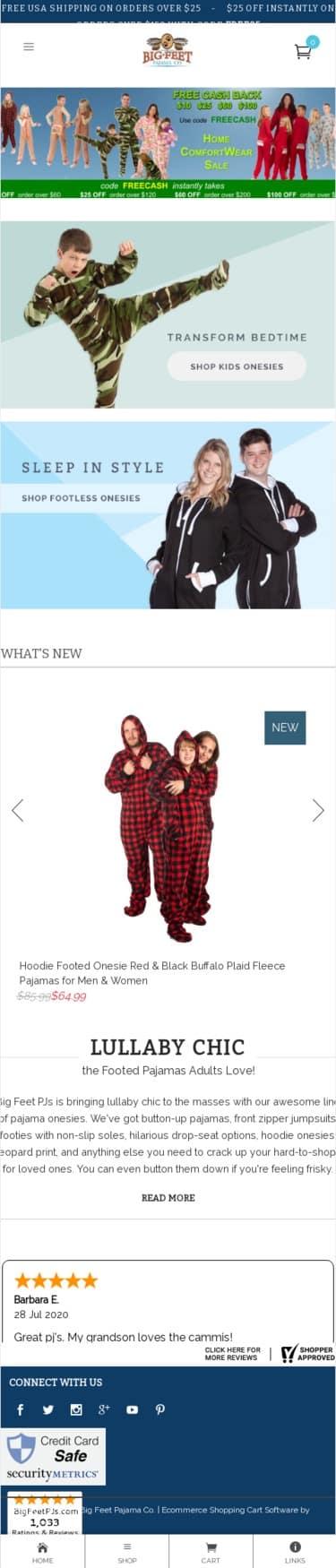 Big Feet Pajama Co Coupon