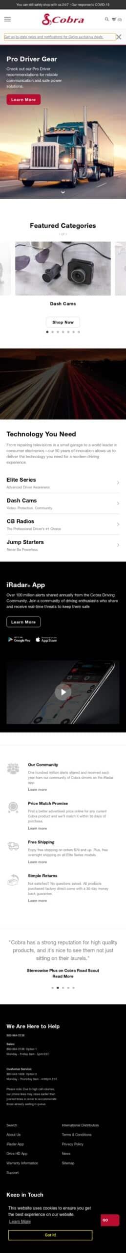 cobra.com Coupon