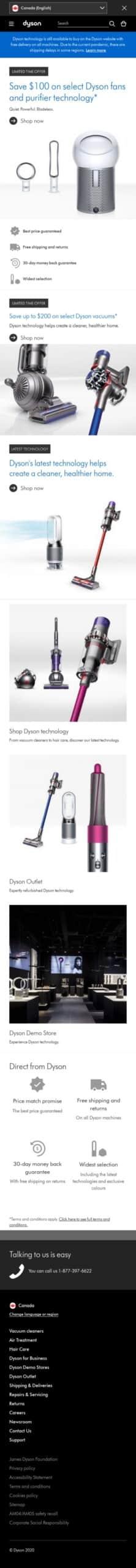 Dyson CA Coupon