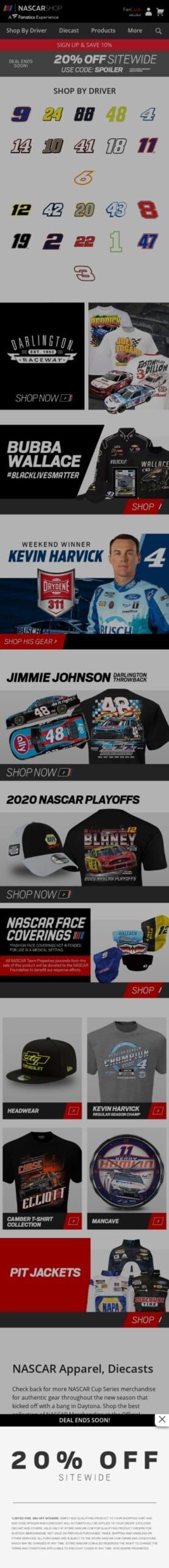 NASCAR.com Store Coupon