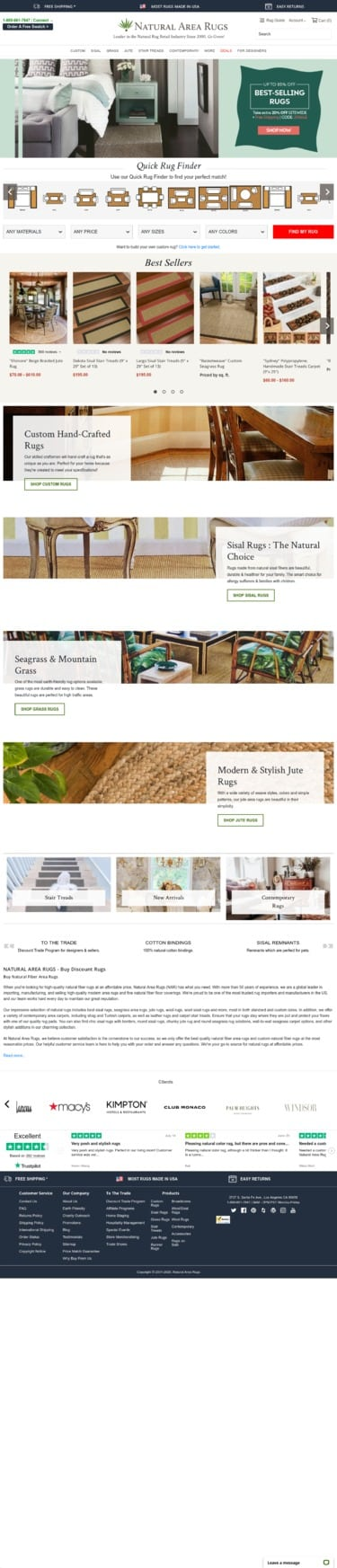 naturalarearugs.com Coupon