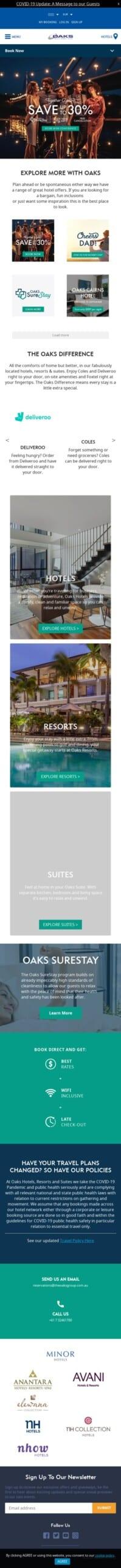 Oaks Hotels & Resorts Coupon