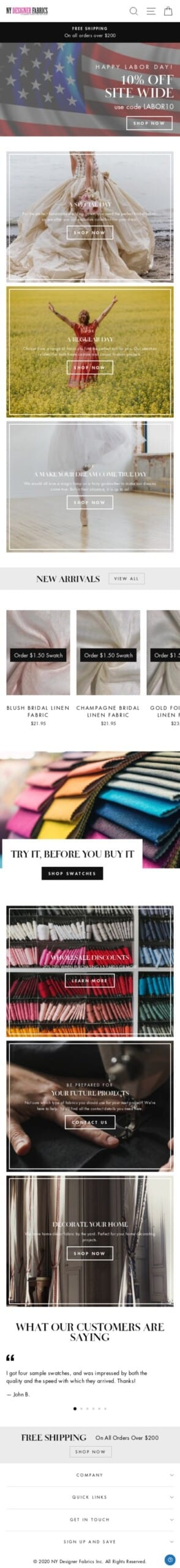 nydesignerfabrics.com Coupon