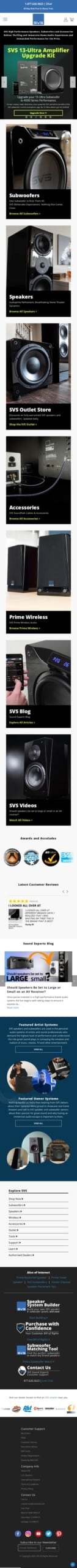 SVS Home Audio Speakers & Subwoofers Coupon