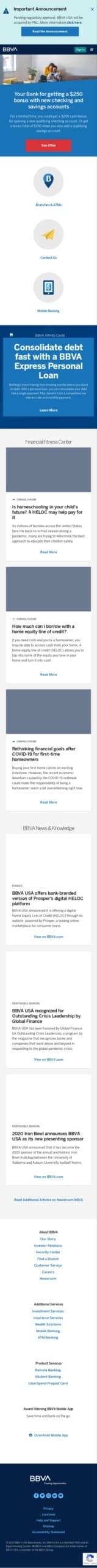BBVA Compass Bank Affiliate Coupon