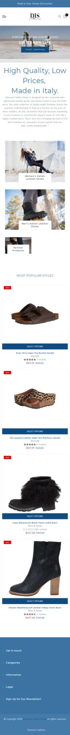 Discount Italian Shoes Coupon