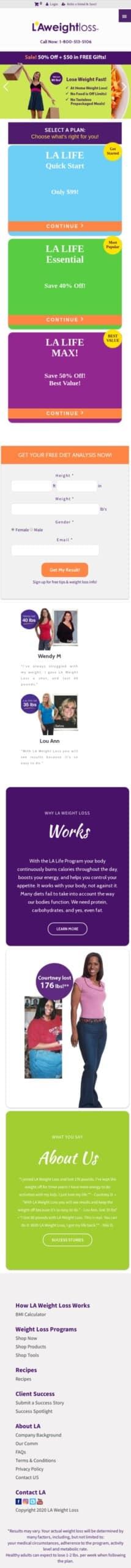 LA Weight Loss Coupon