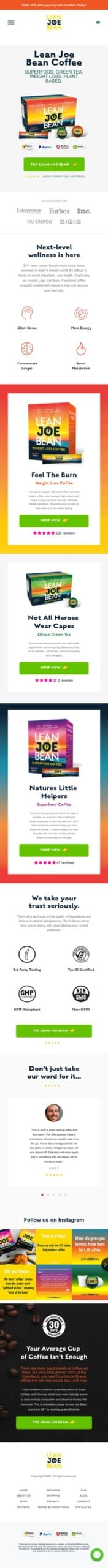 Lean Joe Bean Coupon