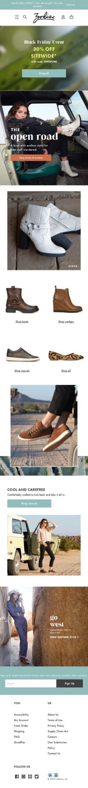 Zodiac Shoes Coupon