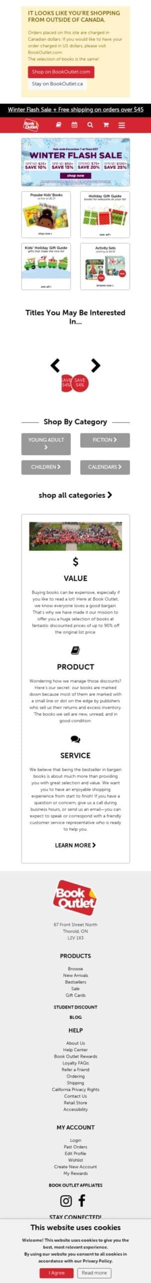 BookOutlet (CA) Coupon