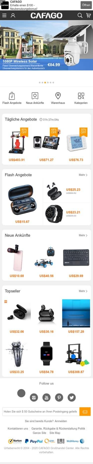 cafago.com Coupon