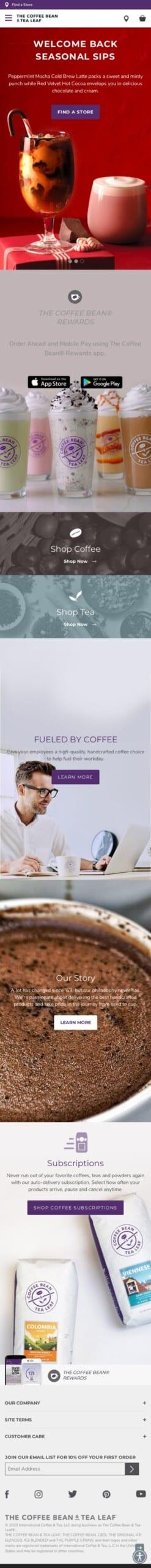 Coffee Bean & Tea Leaf - Dynamic Coupon