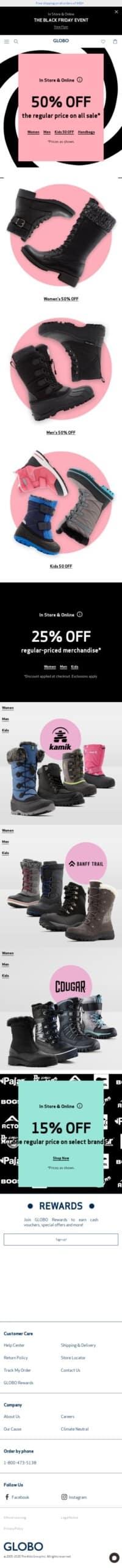 GLOBO Shoes Coupon