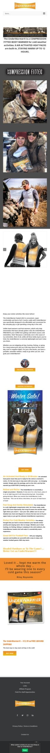 UnderWarmer LLC Coupon