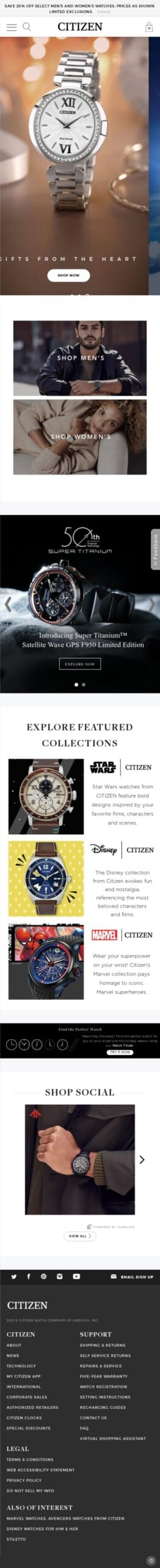 Citizen Watch Coupon