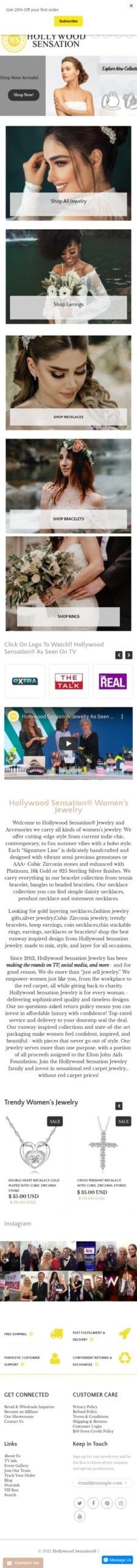 Hollywood Sensation, LLC Coupon