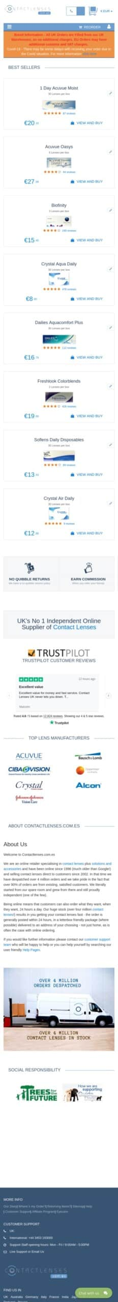 Contactlenses Ltd Coupon