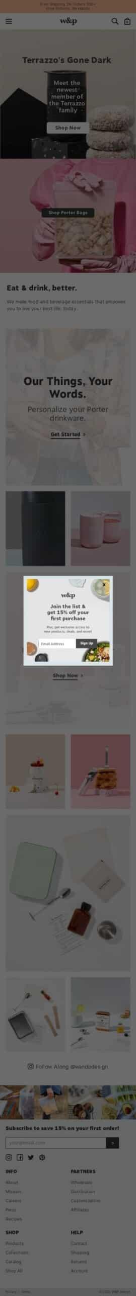 w&p design Coupon