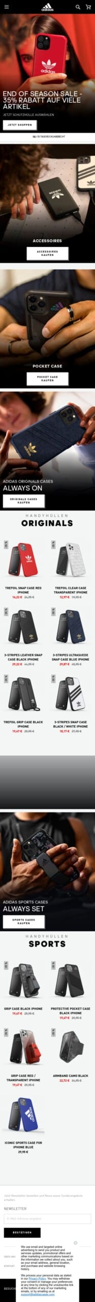 Adidas Cases Coupon