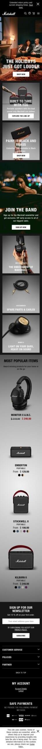 marshall headphones Coupon