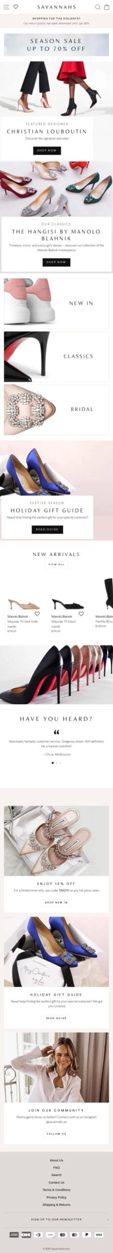 shopsavannahs.com Coupon