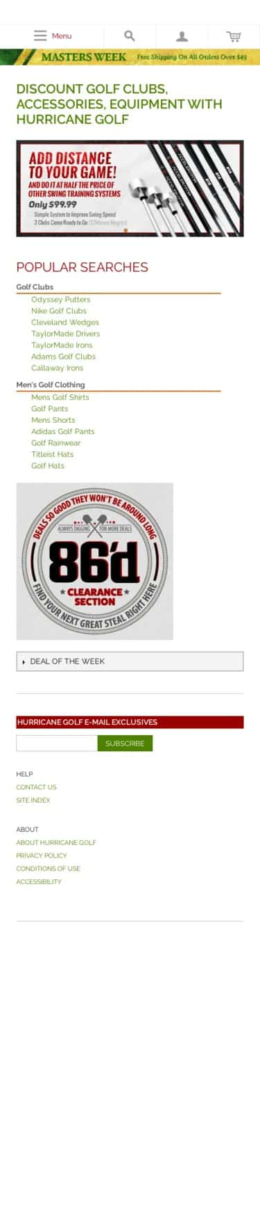 Diamond Tour Golf Wholesalers Inc: hurricane golf Coupon