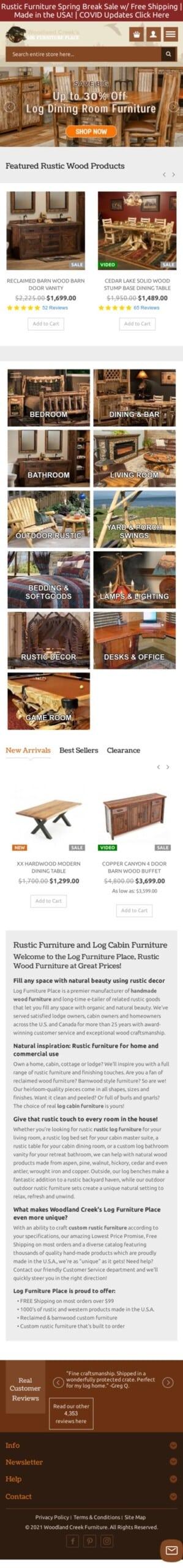 Log Furniture Place Coupon