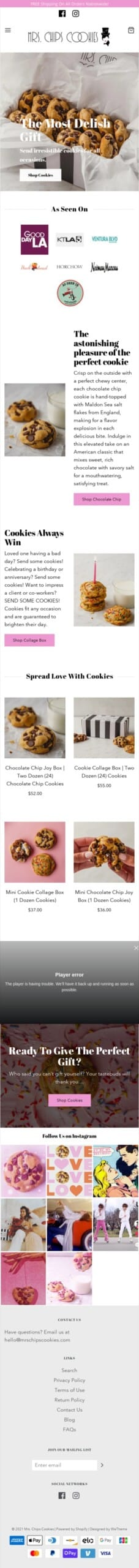 Mrs. Chips Cookies Coupon