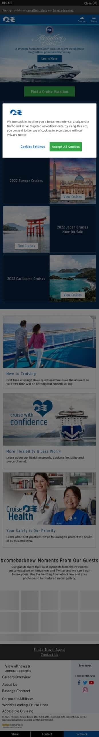 Princess Cruise Lines, Coupon