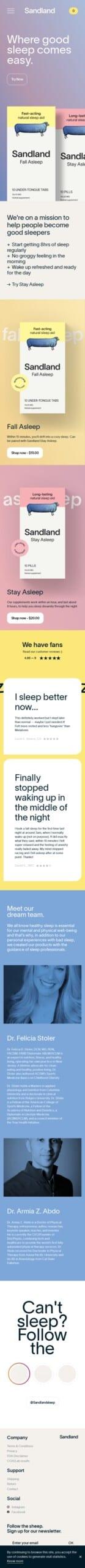Sandland Sleep Coupon