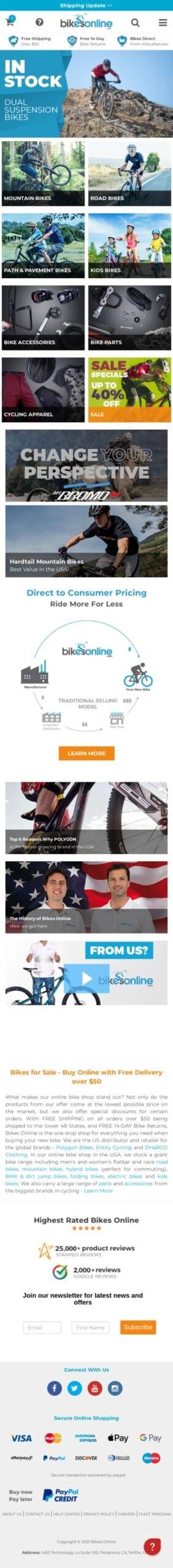 Bikes Online (US) Coupon