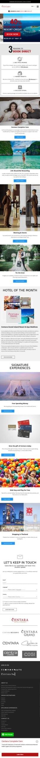 Centara Hotels & Resorts Coupon